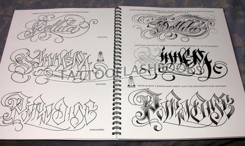 Big Sleeps Tattoo Letterings Alphabet