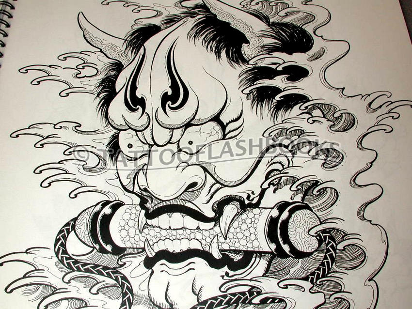 hannya mask tattoo. of Japanese Hannya mask